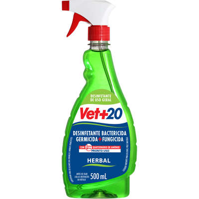 Desinfetante Bactericida Vet + 20 Pronto Uso Spray - 500 mL