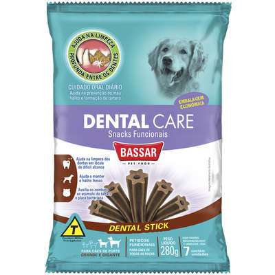 Dental Care Bassar Pet Food Balance Control Sabor Frango 3 Unidades - 120 g